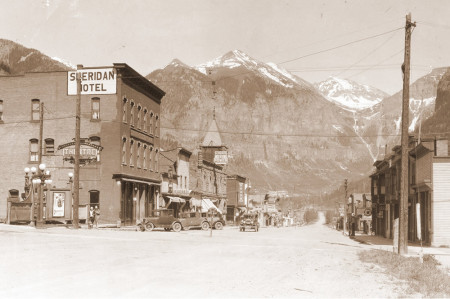 Model-T on Main Street 1927 - Colorado Historic Photo