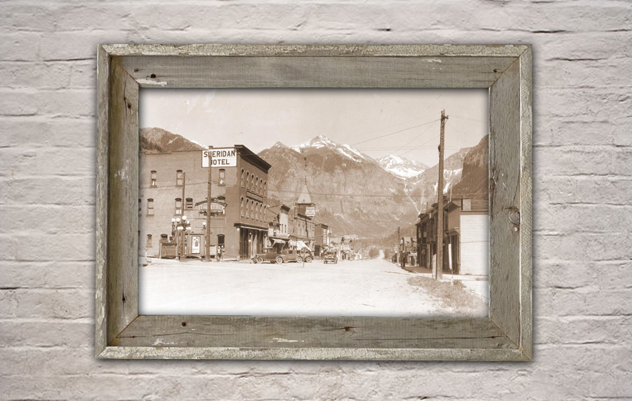 Old Colorado Prints on Canvas,Old Barnwood Frames, Vintage Ski ...