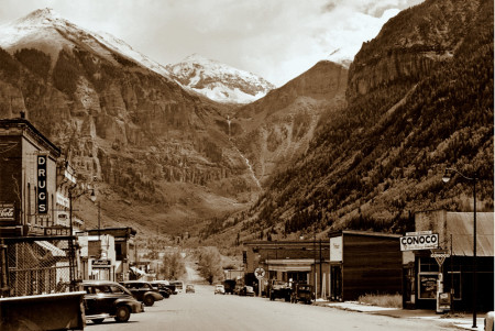 Historic Main Street in Summer - Telluride, Colorado Historic Photos
