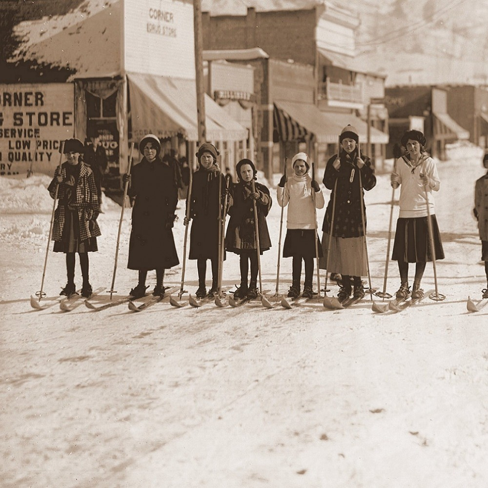 Kids Skiing - Colorado Historic Photo